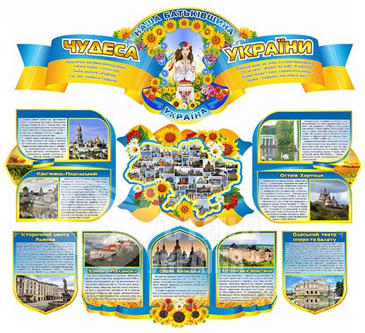 Комплект стендів «Чудеса України»