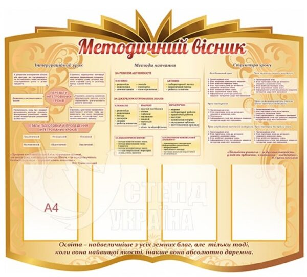Стенд у вигляді книжки «Методичний вісник»