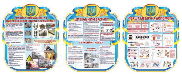 Комплект стендів для оформлення кабінету цивільного захисту