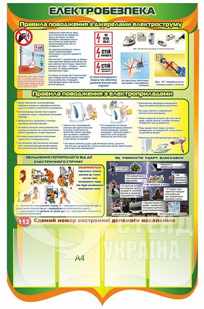 Стенд з електробезпеки