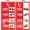 Таблички «Аварійні служби»