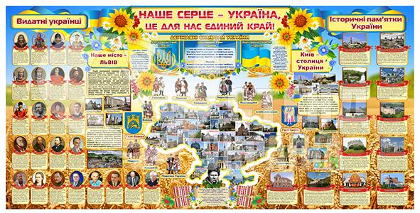 """Банер """"Наше сердце Україна"""""""